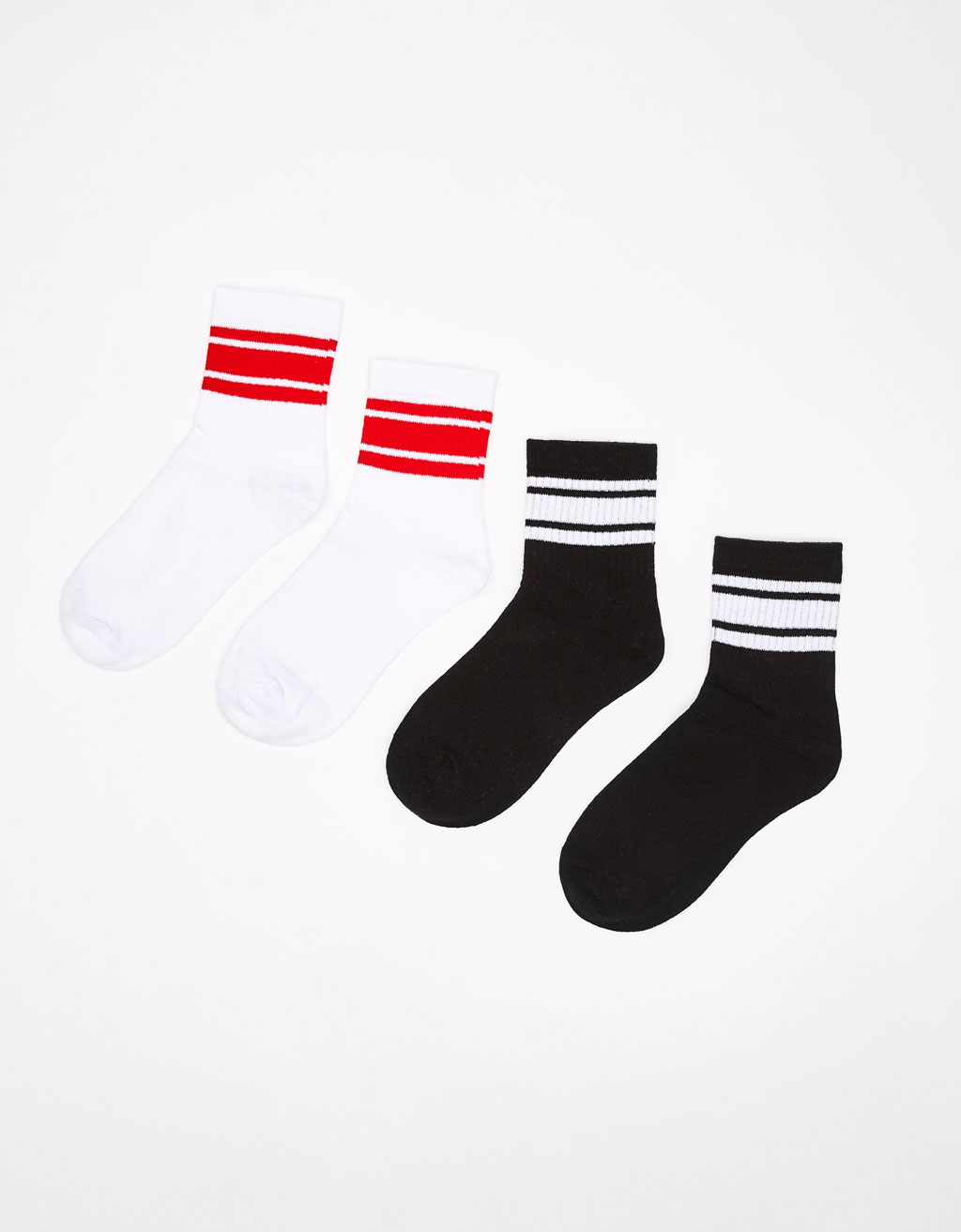 Pack of 2 pairs of striped socks
