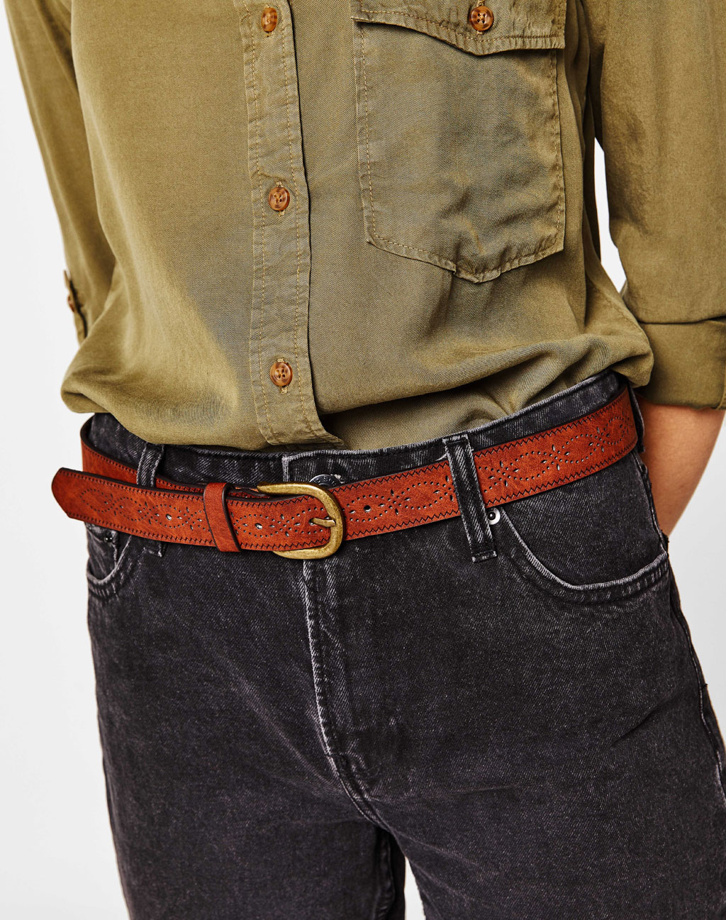 Wide perforated belt