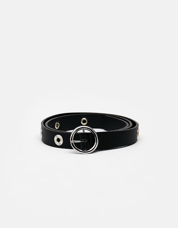 Cinturón con eyelets
