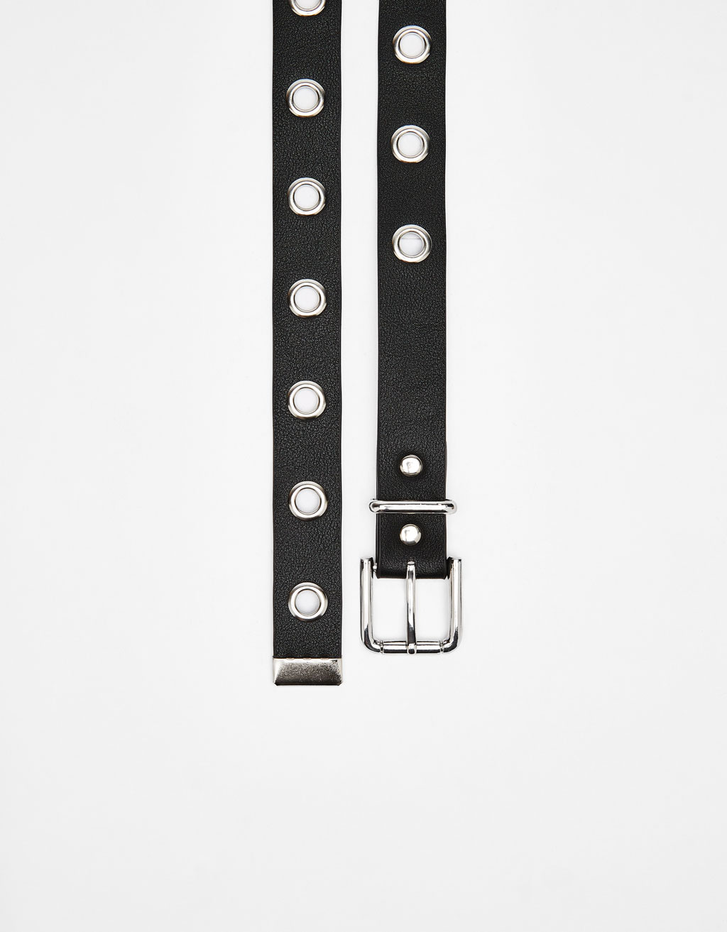Long belt with eyelets