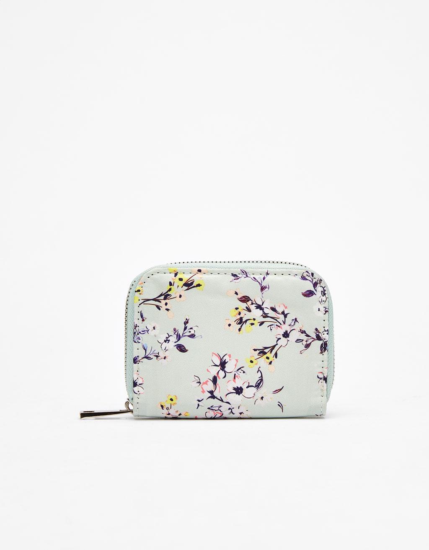 Floral print purse
