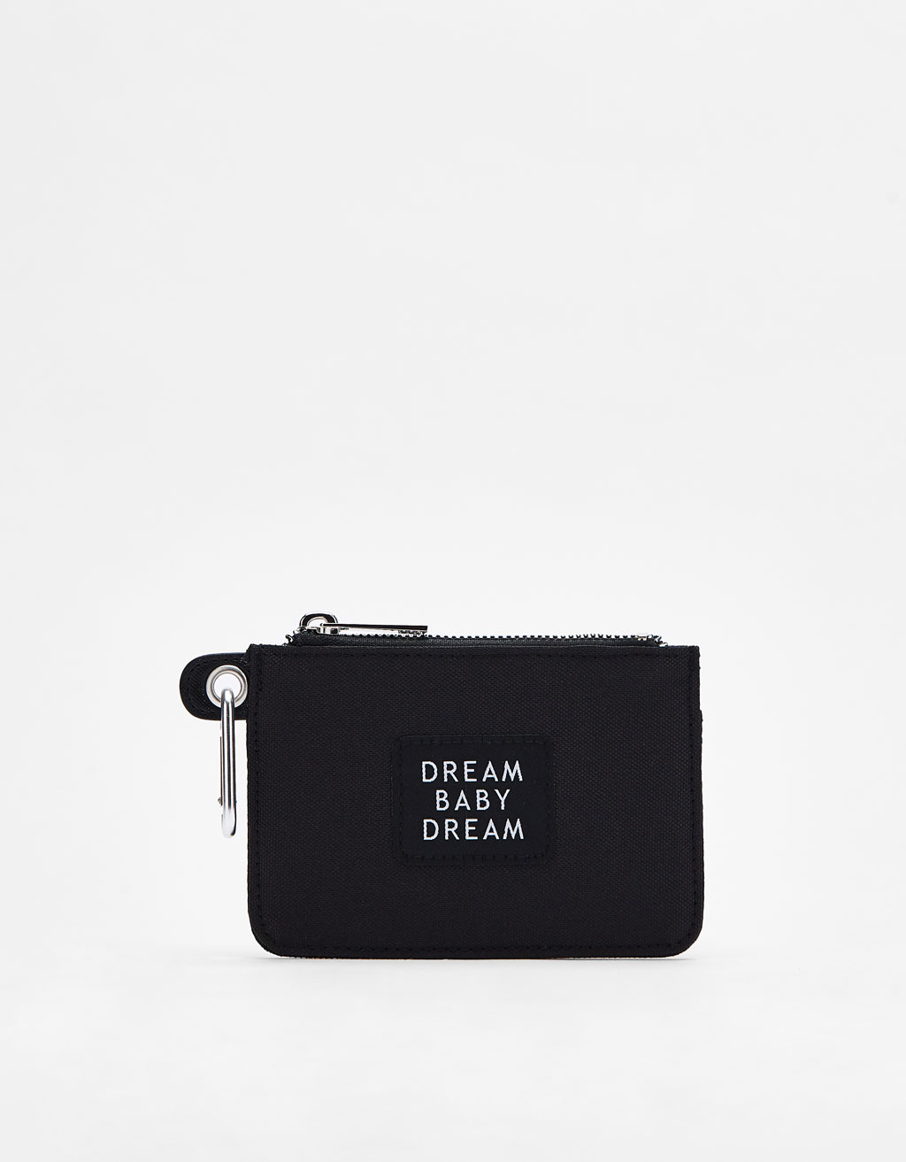 Key ring purse with slogan