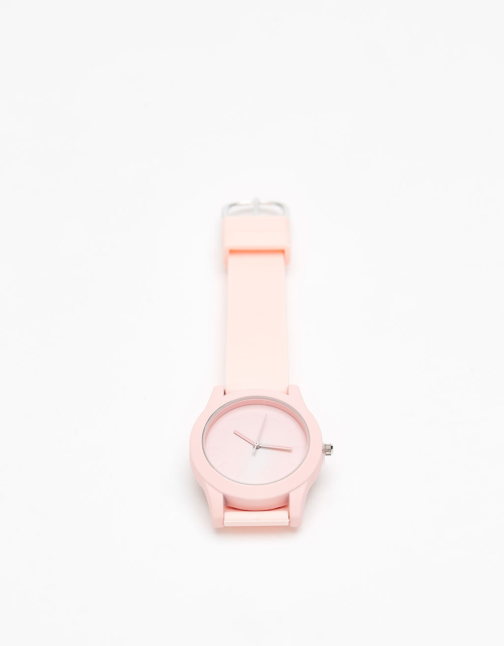 Watch with rubber strap