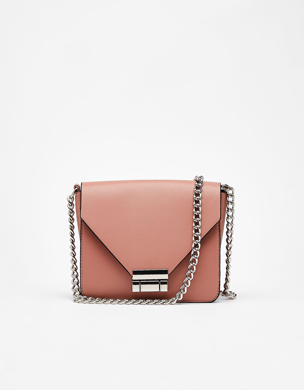 Faux Saffiano crossbody bag