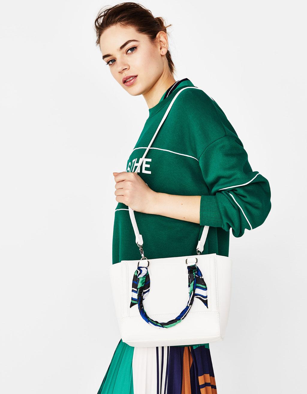 Чанта тип tote-bag с кърпа