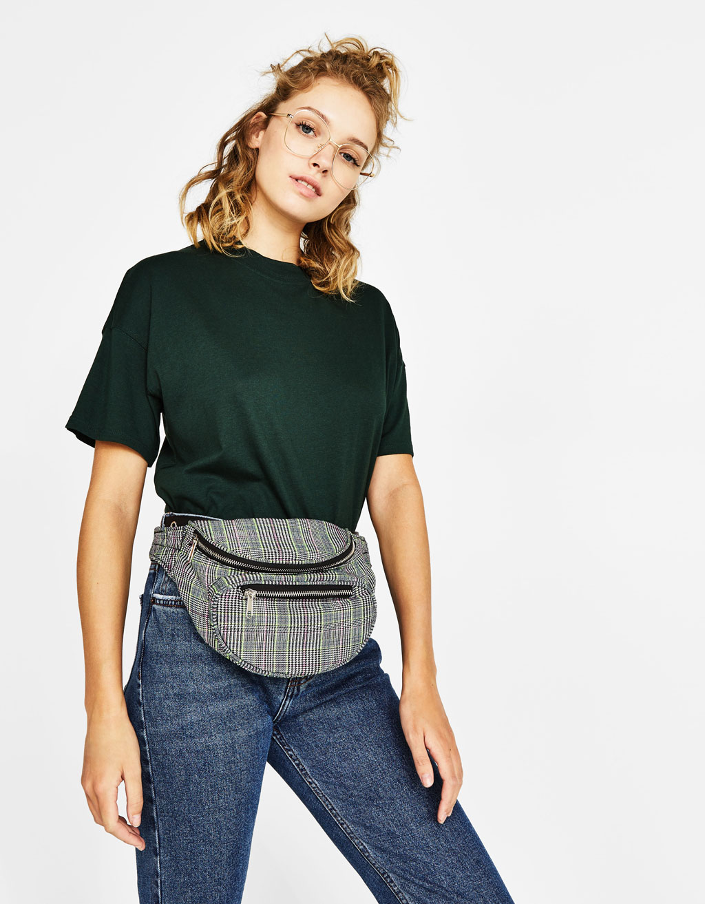 Plaid fanny pack
