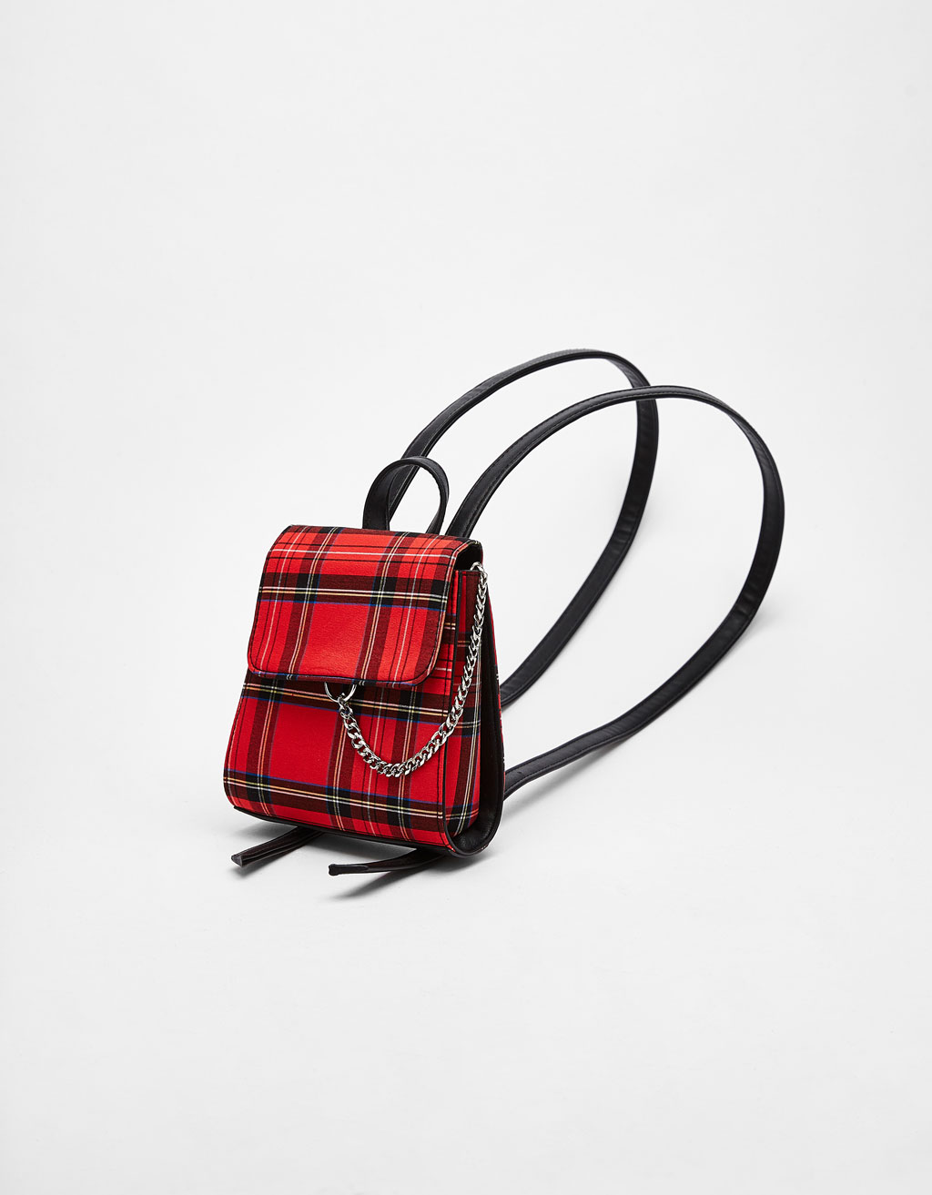 Tartan mini backpack