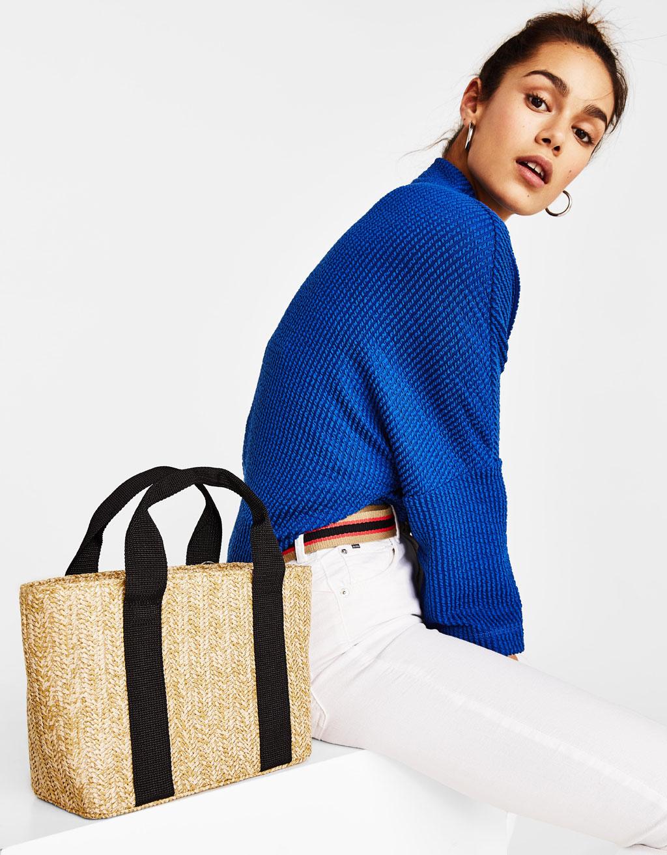 Τσάντα tote από γιούτα