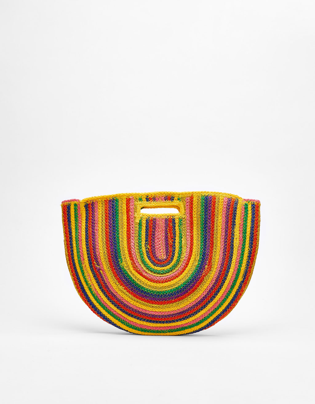 Multicolored straw bag