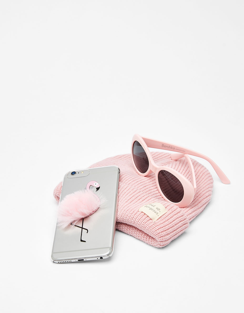 Ovitek s flamingom s cofom za iPhone 6plus/7plus
