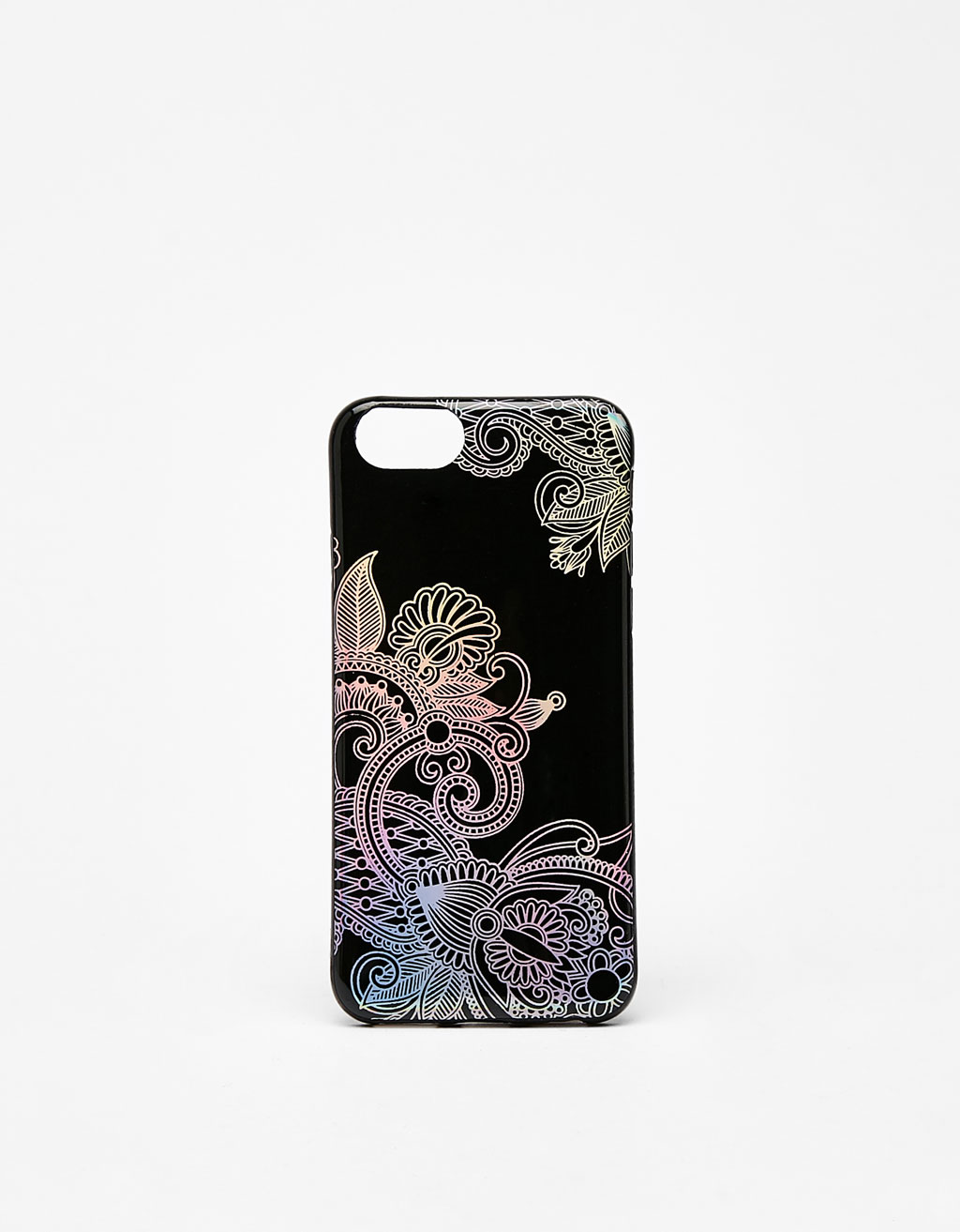 iPhone 6/6s/7 mobile phone case with raised holographic pattern