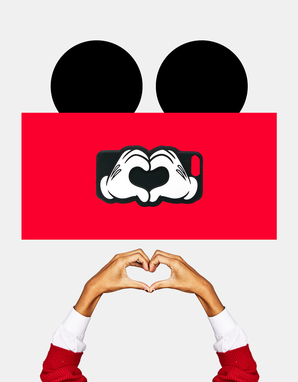 Mickey hands forming a heart iPhone 6plus/7plus case
