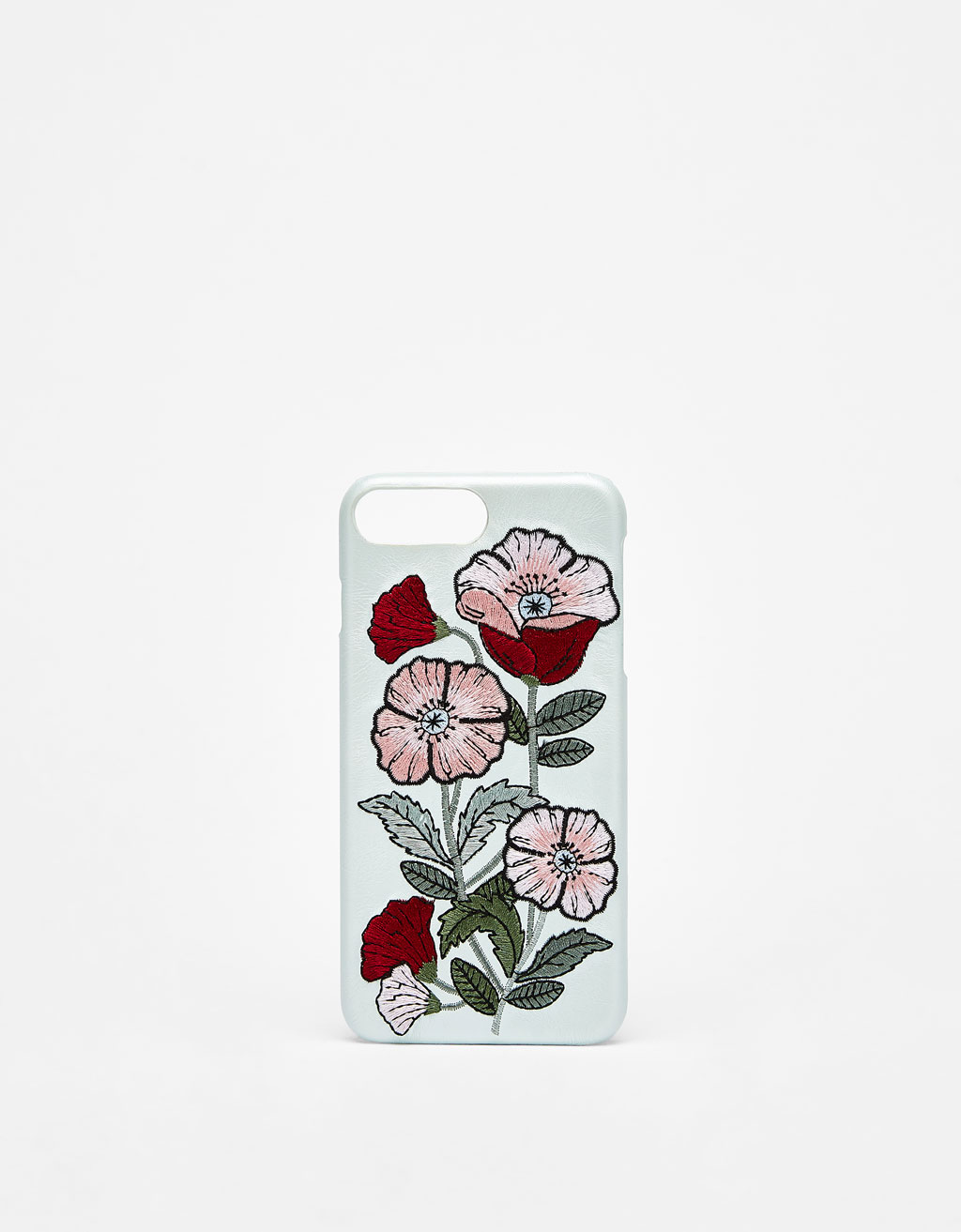 Cover med blomsterbroderi iPhone 6 plus/7 plus/8 plus