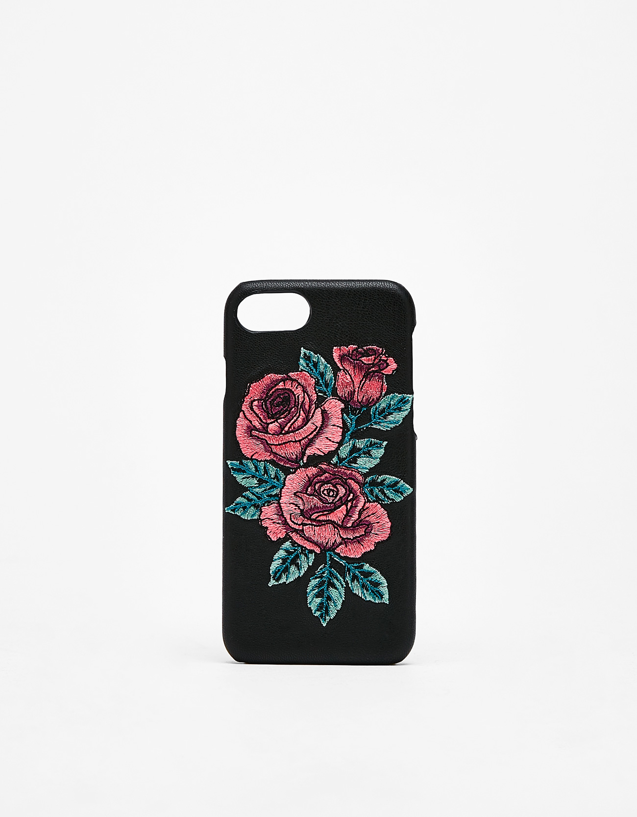 size 40 21514 6365a Embroidered rose iPhone 6/6s/7/8 case - iPhone Cases - Bershka Kuwait
