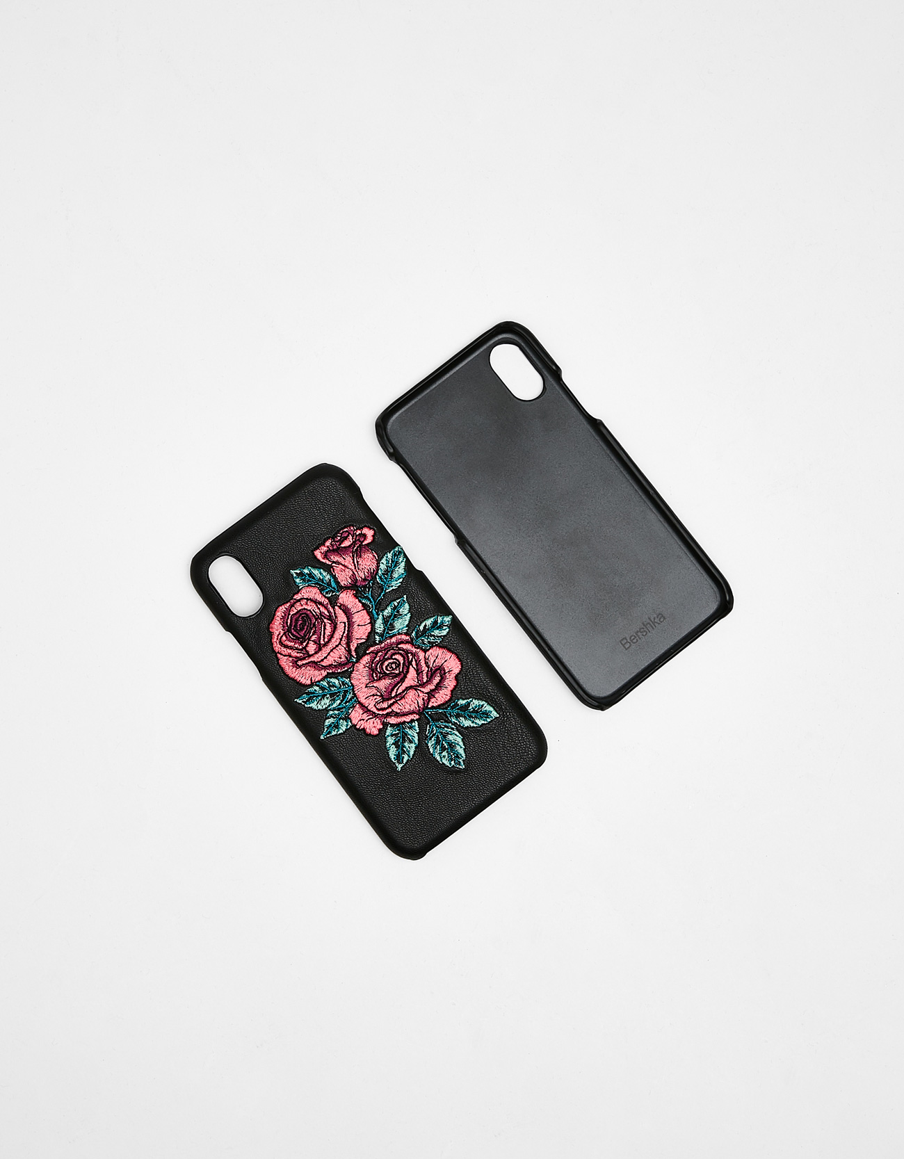 quality design 88737 550a1 Embroidered rose iPhone X case - iPhone X - Bershka Denmark