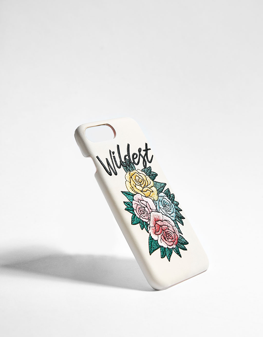 iPhone 6plus/7plus/8plus case with floral embroidery