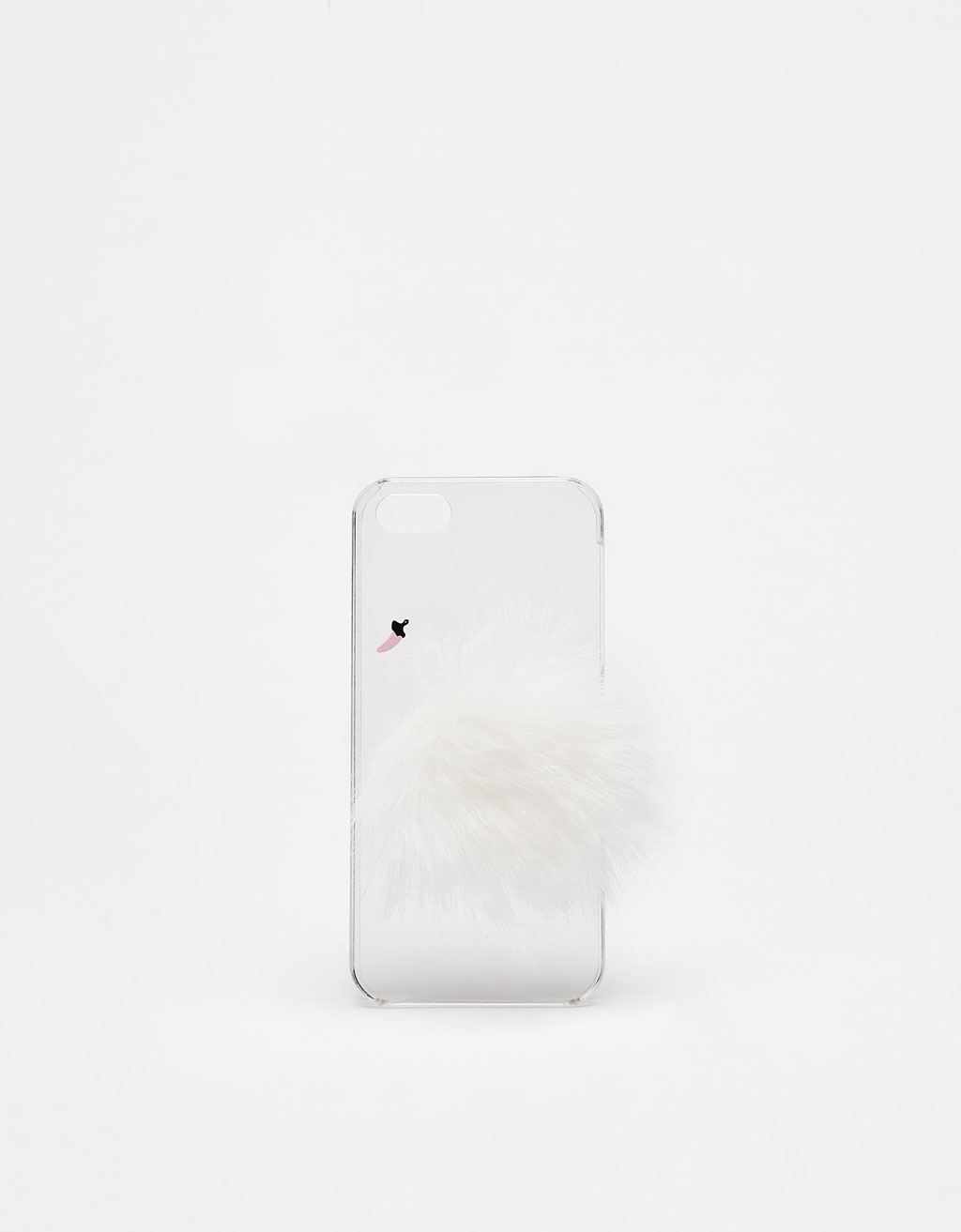 Swan-shaped iPhone 5/5s case with pompom