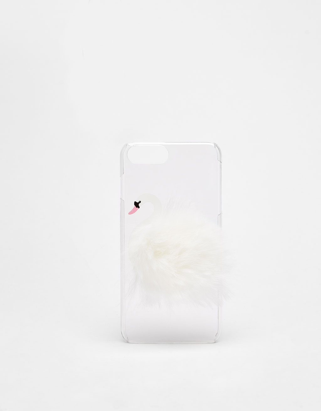 Swan-shaped iPhone 6/6s/7/8 case with pompom