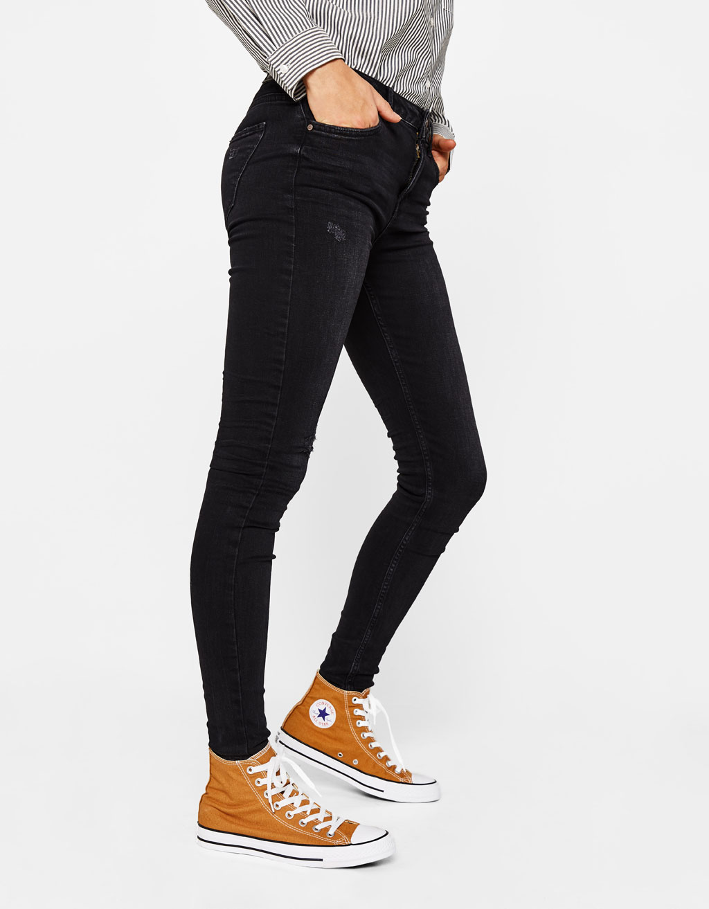 Five-pocket skinny fit jeans