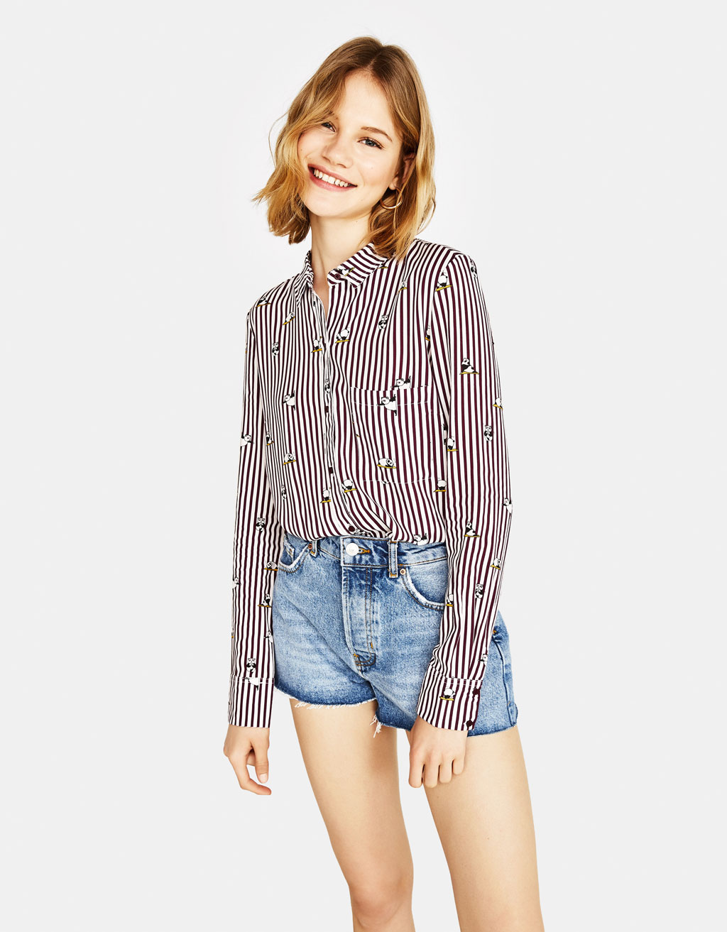 Camisa cropped botons esquena