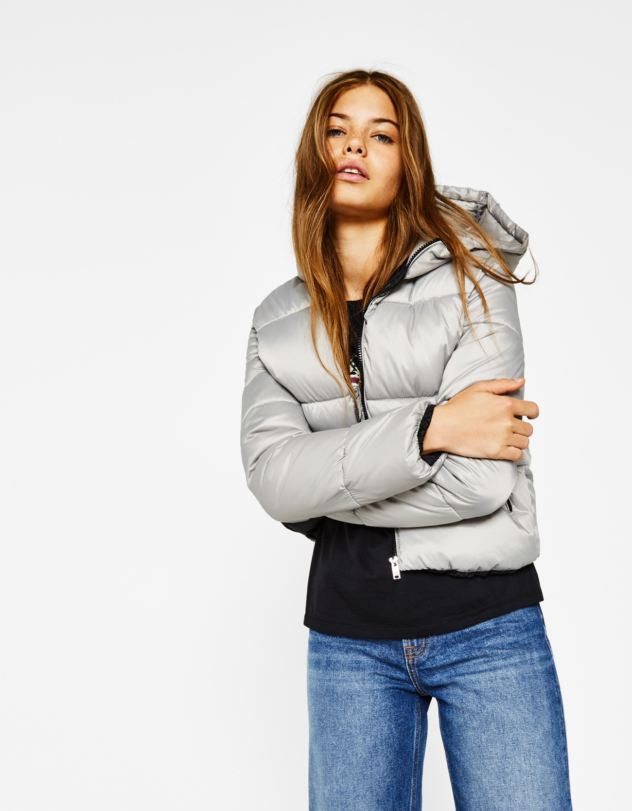 b0bbb08bdb38e Bershka Puffer jacket with hood at £25.99 | love the brands