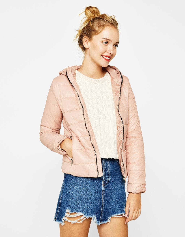 Fine jacket with hood
