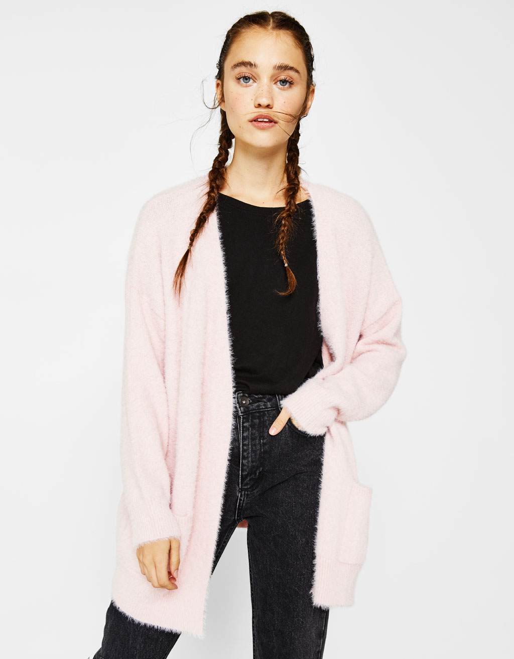Oversized fluffy cardigan