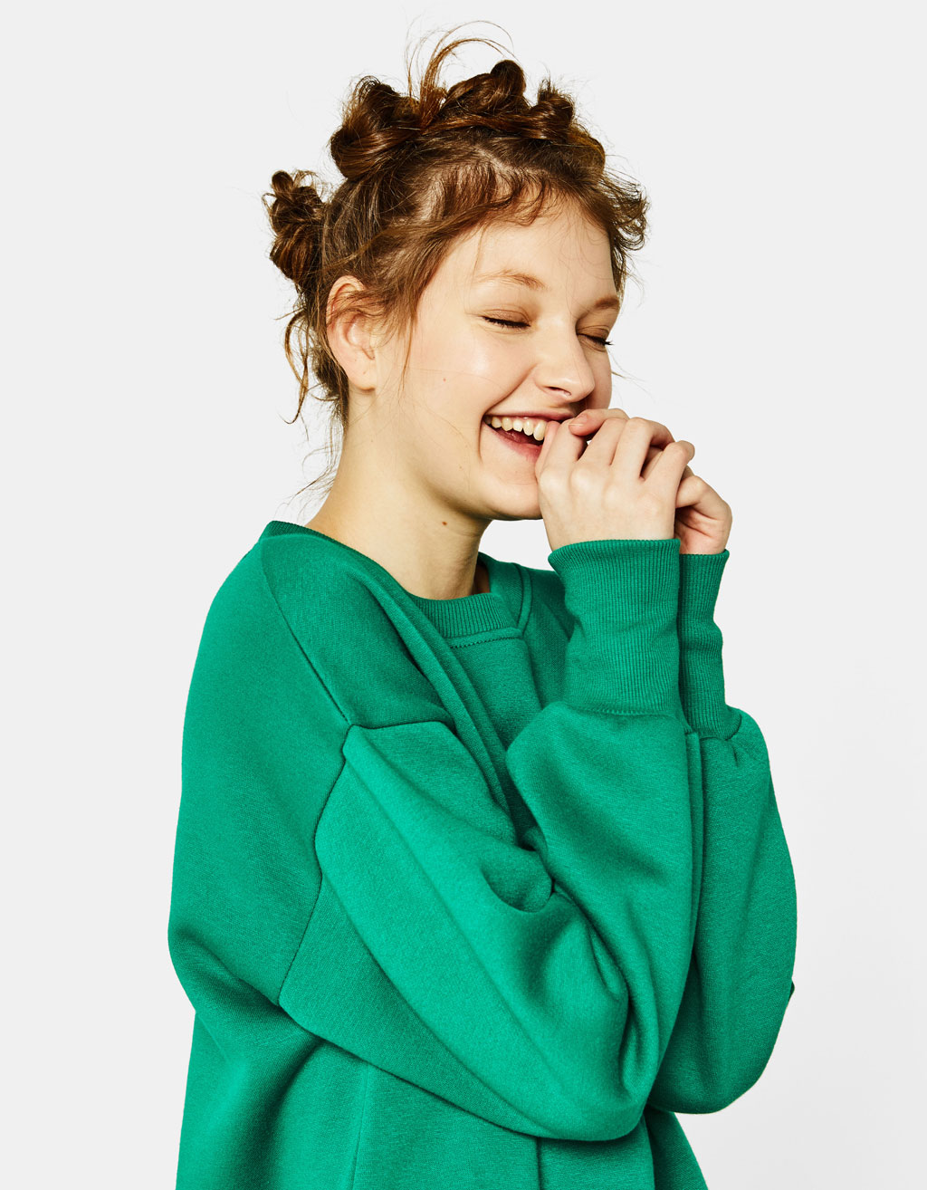 Oversized sweatshirt with side vents