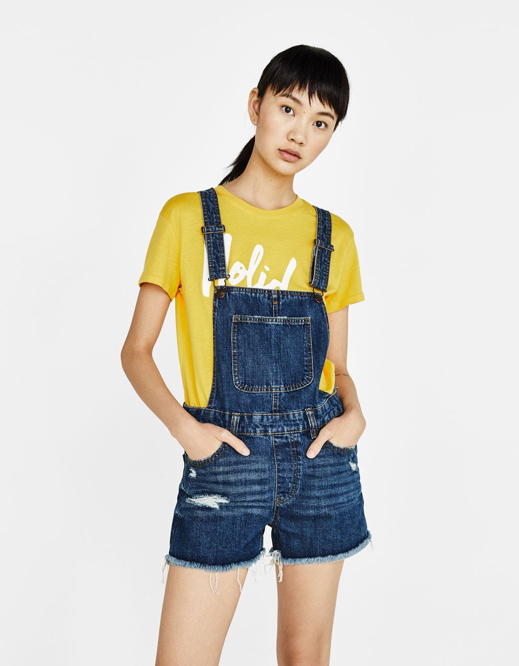 Peto denim curt