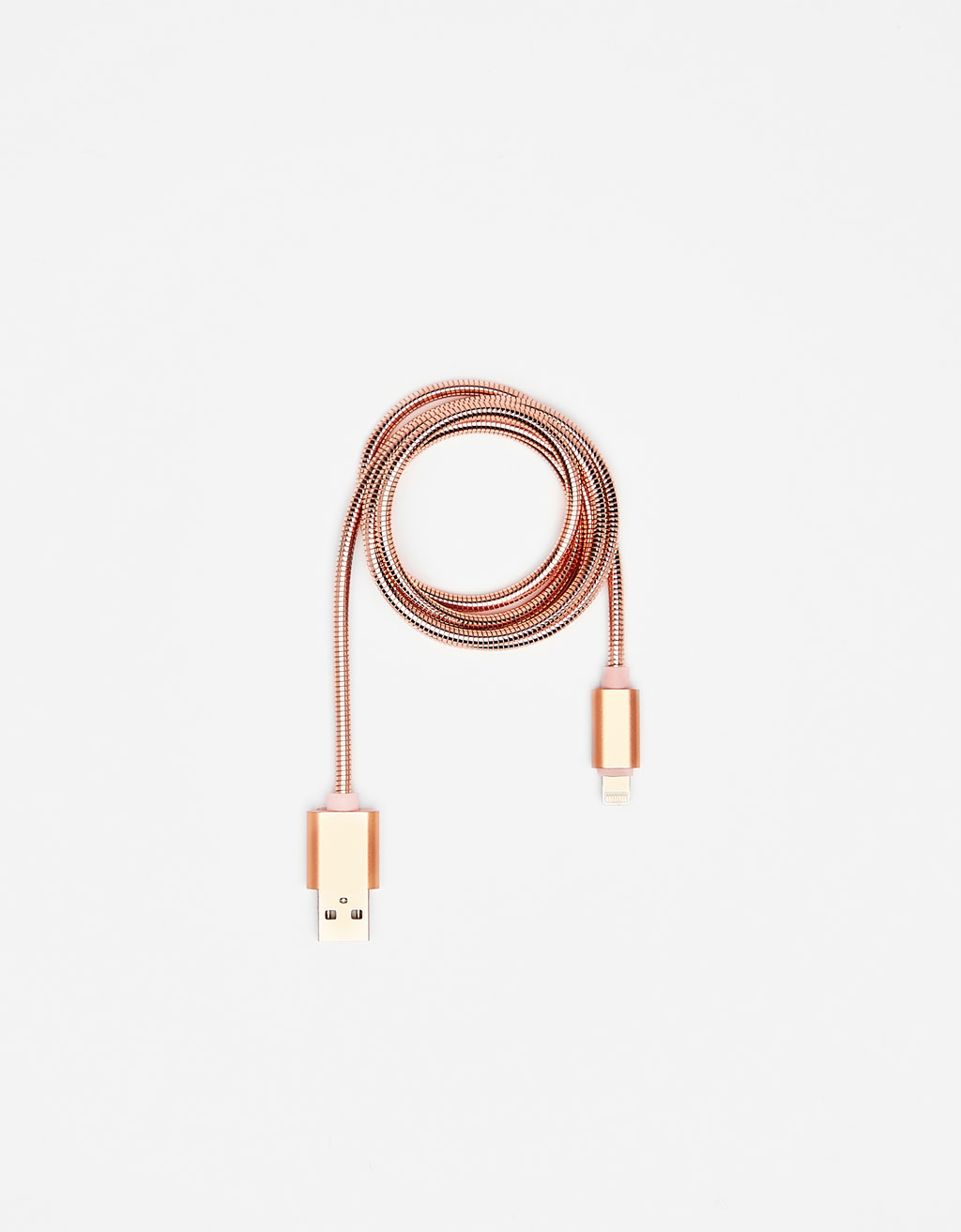 Cable USB/ Cargador Rose Gold
