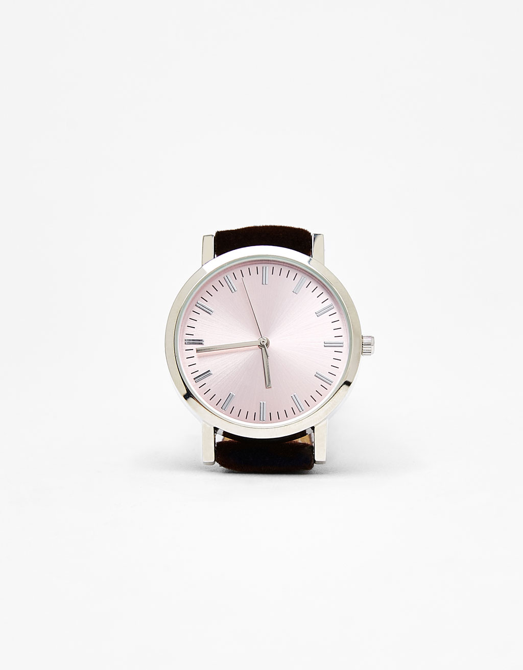 Watch with velvet watchband