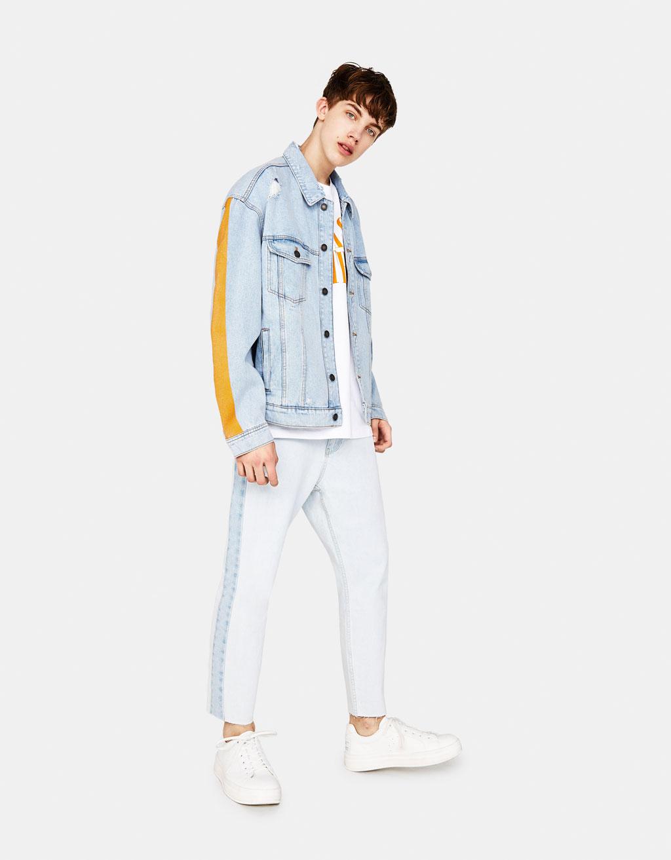 Bershka jeans jacke patches