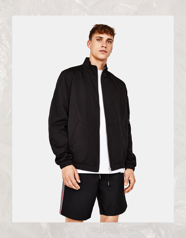 Light jacket with zip
