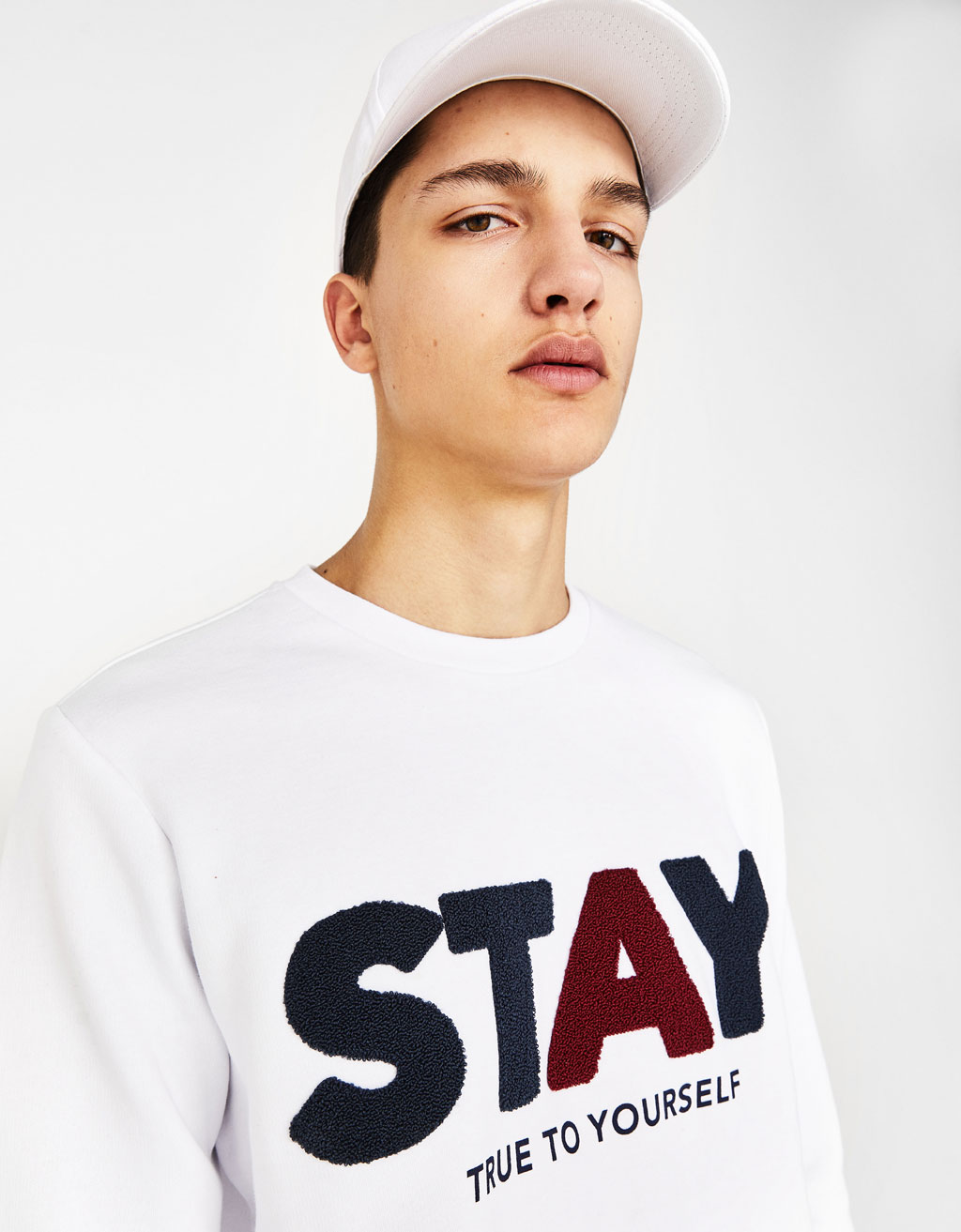 Sweatshirt with terry slogan