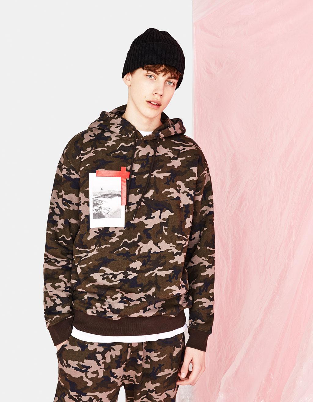 Camouflage sweatshirt