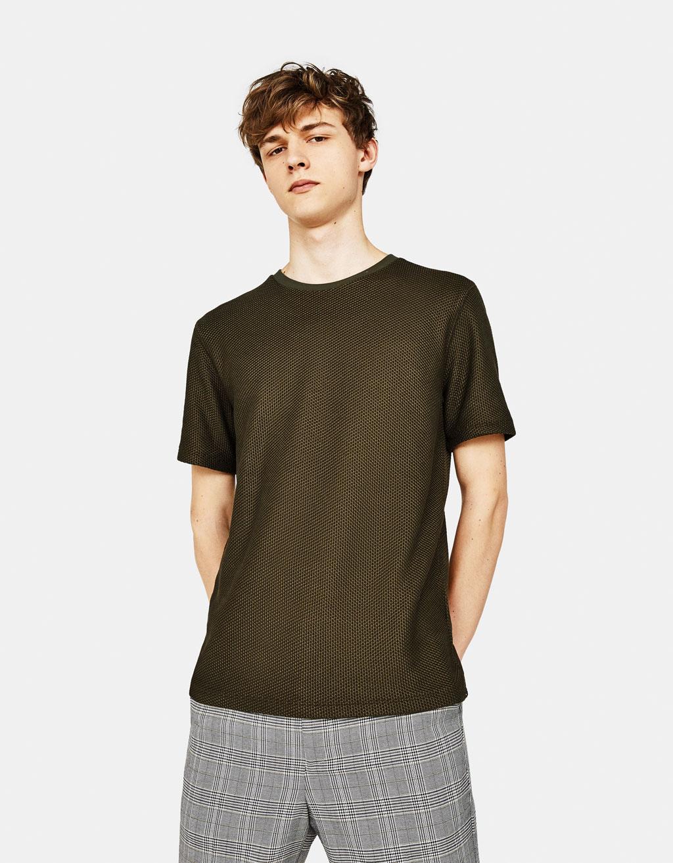 T-shirt met structuur