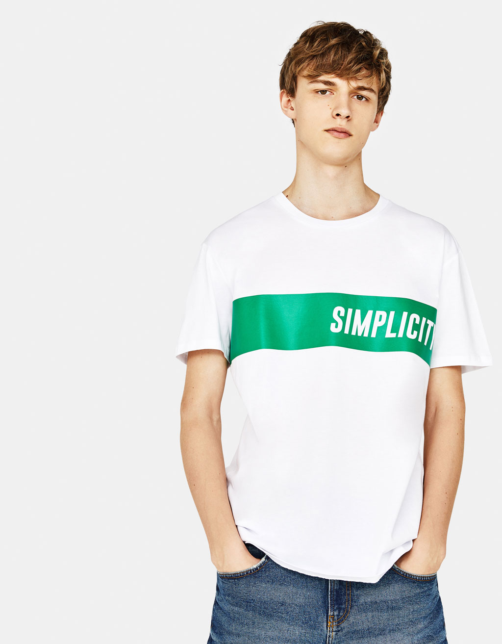 T-shirt med text