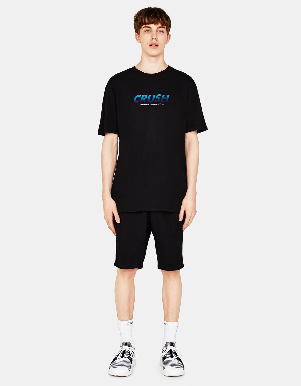 Boxy fit T-shirt with embroidery