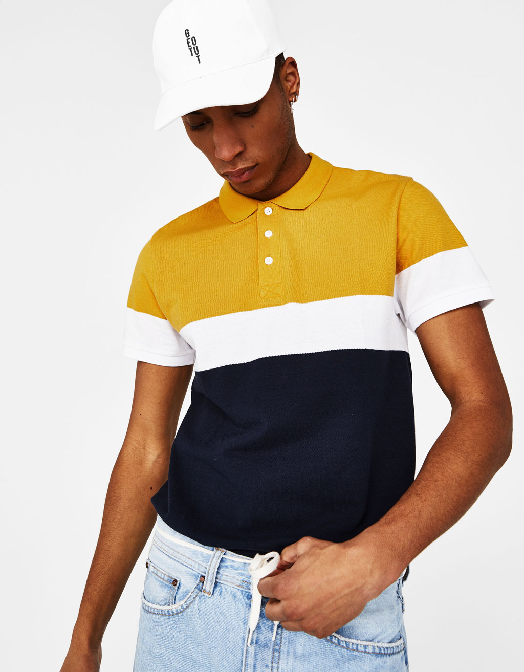 Poloshirt mit Colour-Block
