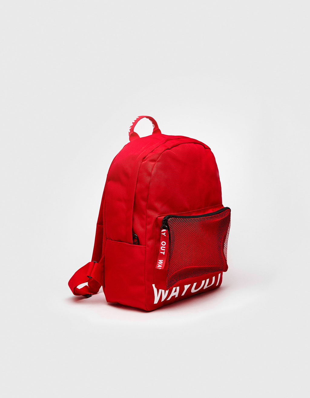 Backpack with slogan