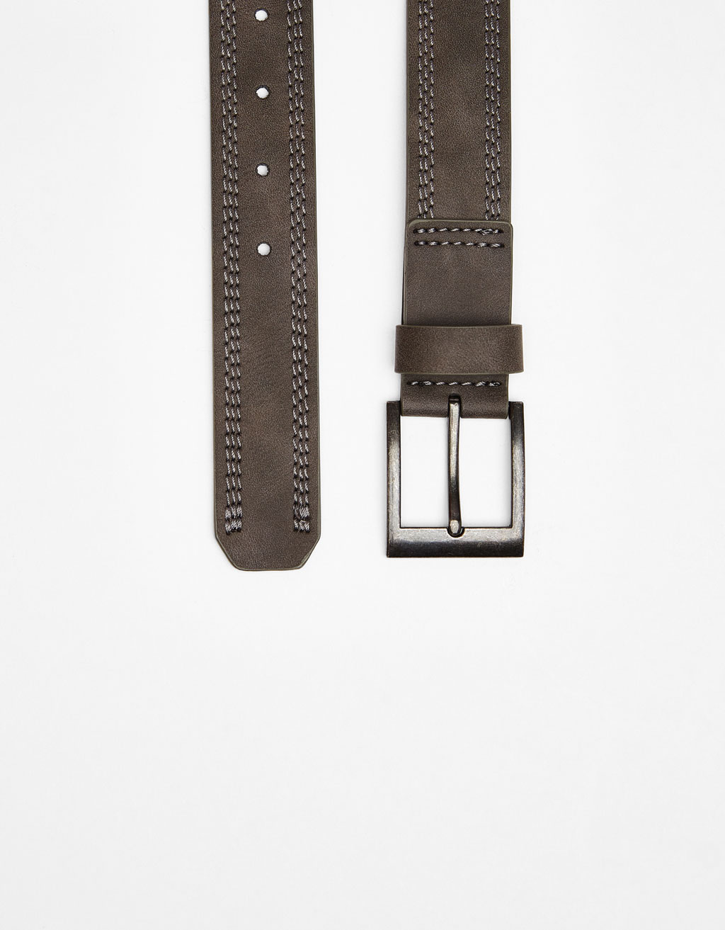 Belt with triple stitching