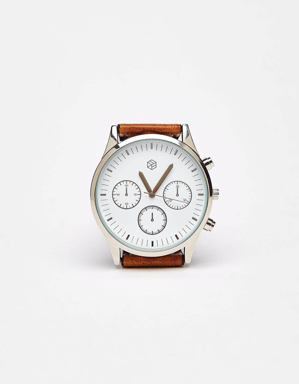 Watch with leather-effect strap