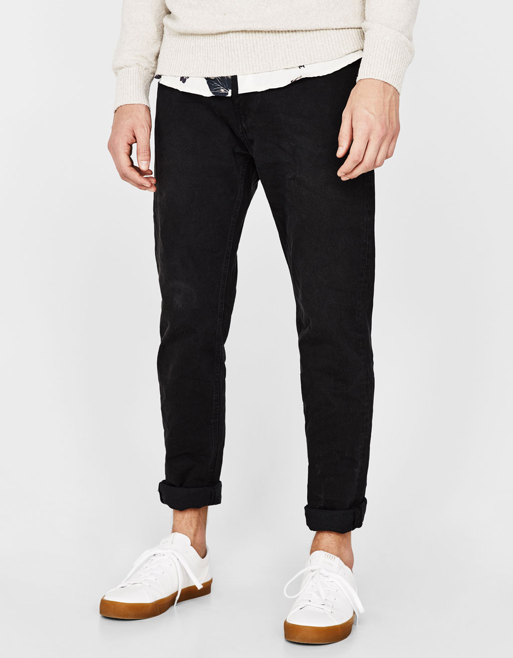 Versleten jeans straight fit