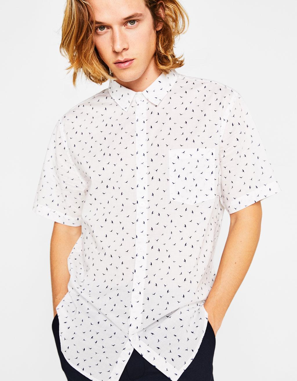 Hemd mit kurzen Ärmeln und Print