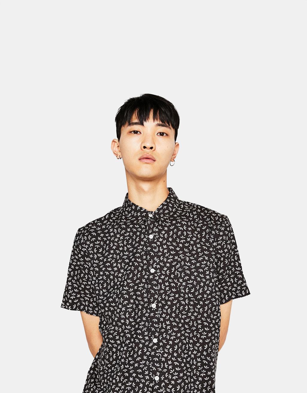 Kortärmad mönstrad skjorta