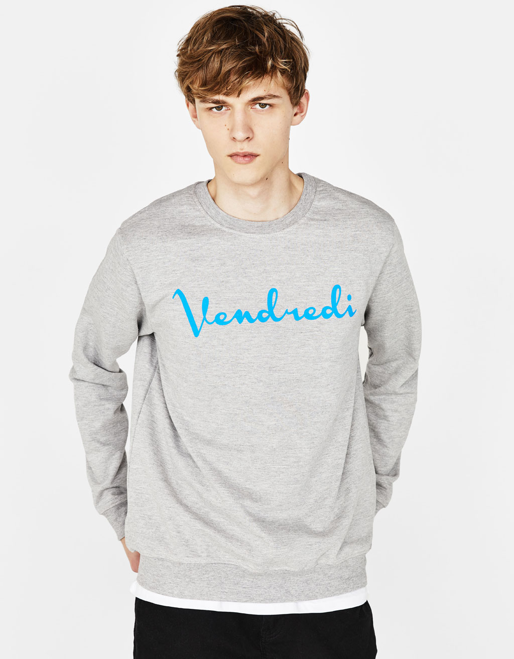 Sweatshirt with slogan