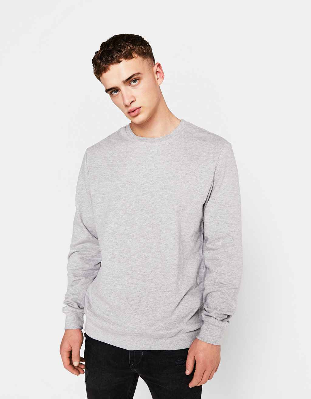 Sweatshirt with stretch waist and cuffs