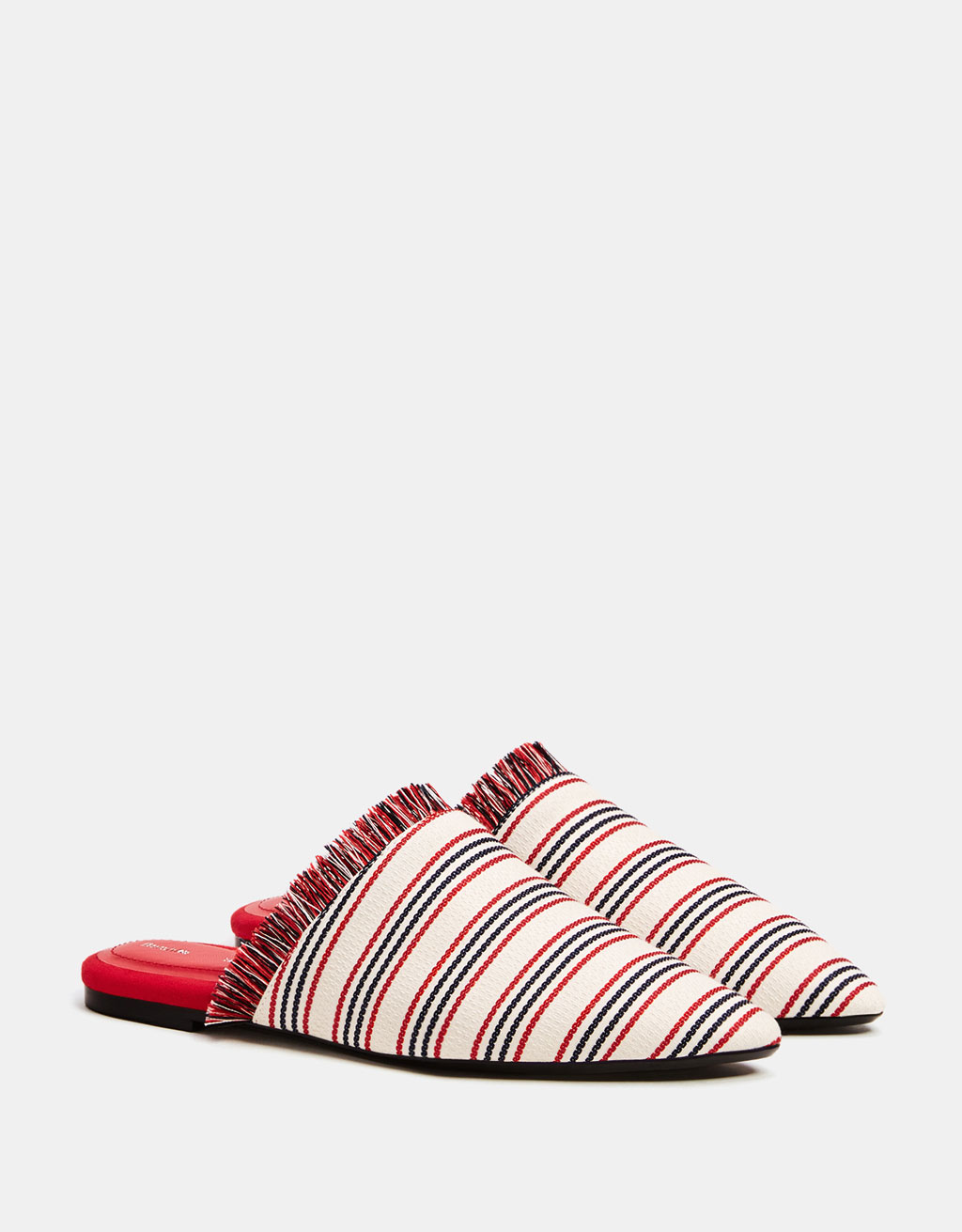 Zapato plano destalonado tecido