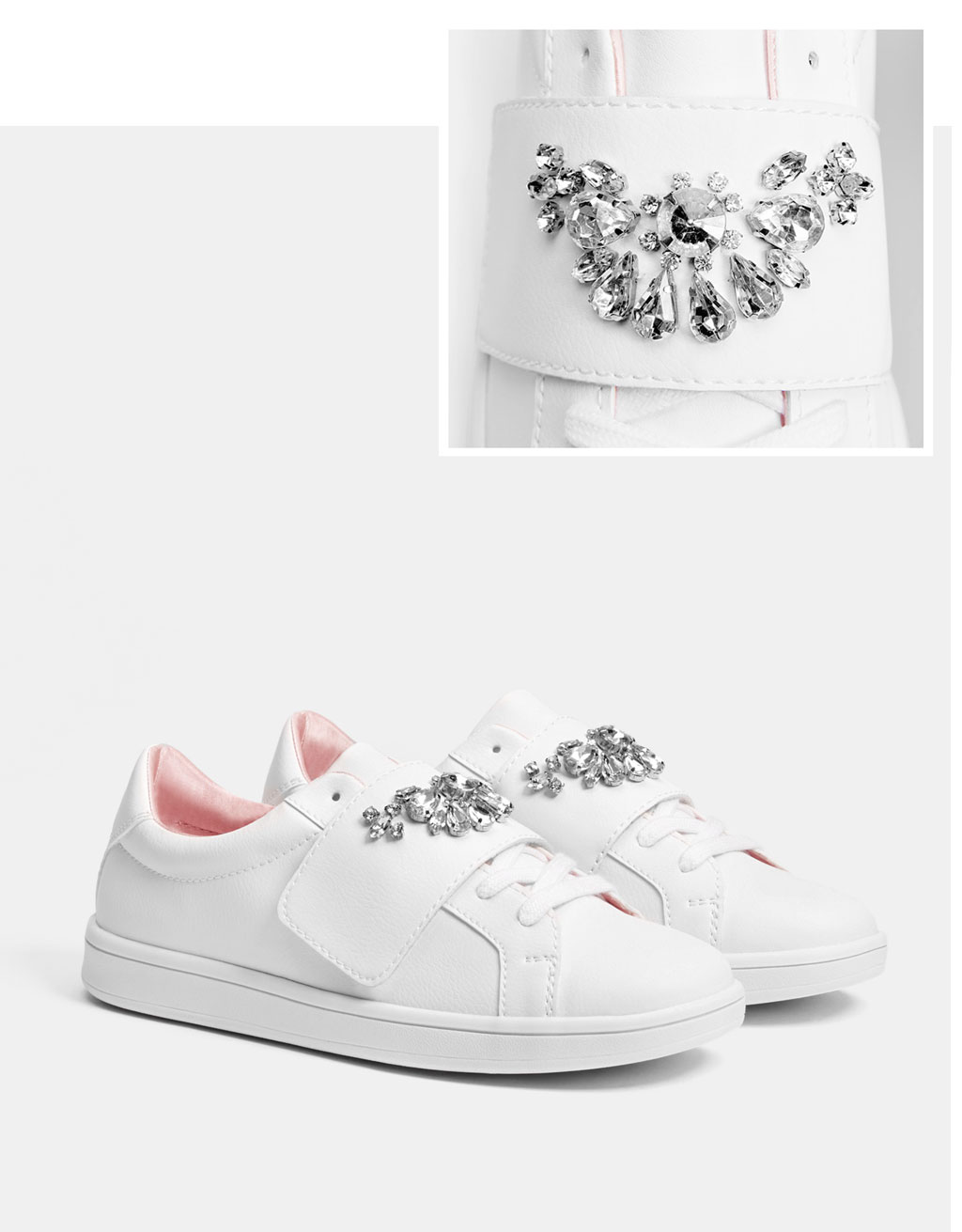 Bejewelled sneakers