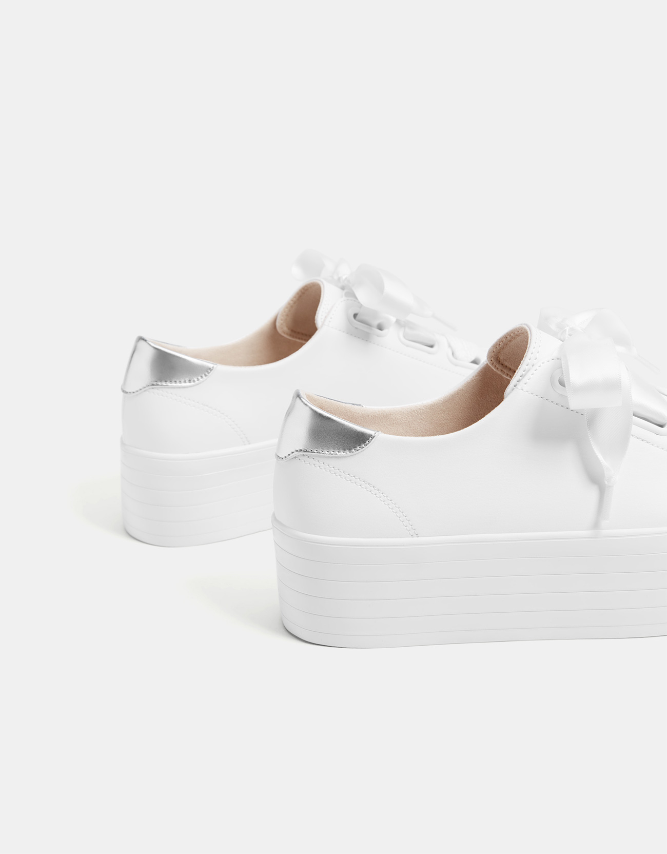 16e700ed9ef Bershka Platform sneakers with XL laces at £29.99